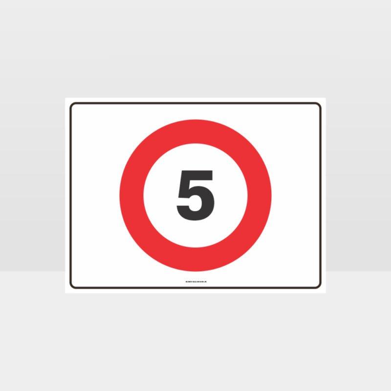 5 KPH Speed L Sign