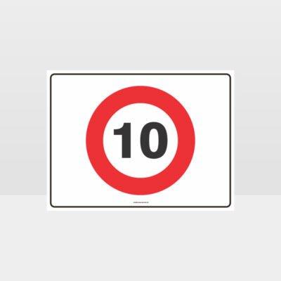 10 KPH Speed L Sign