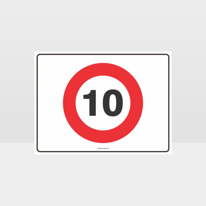 10 KPH Speed L Sign