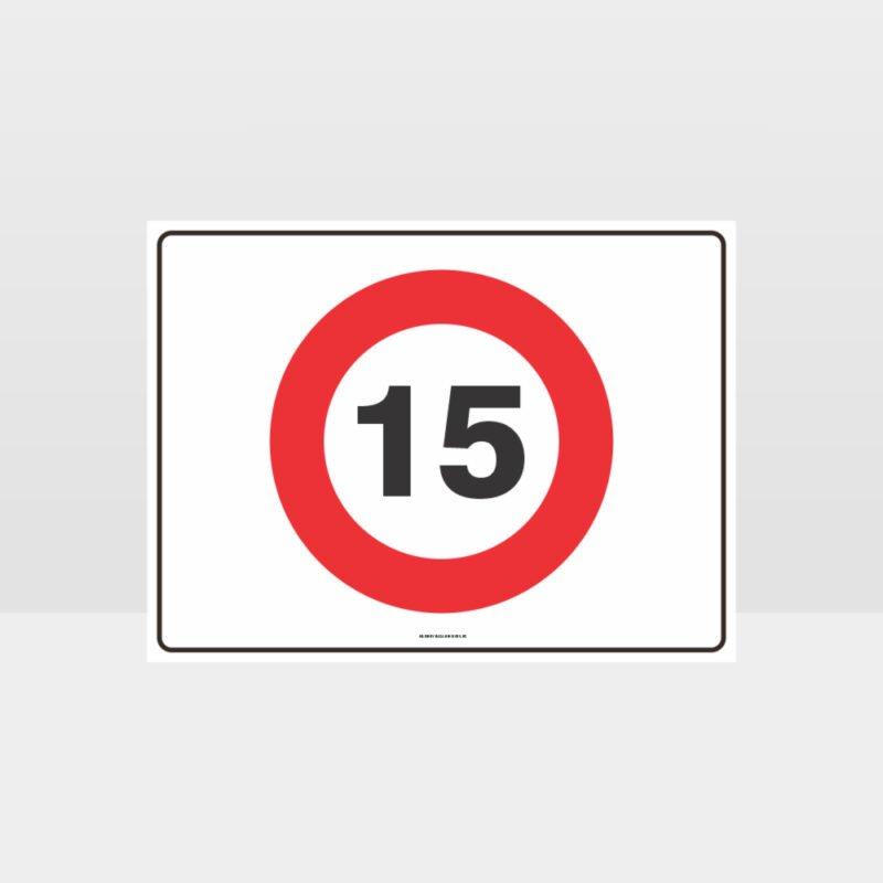 15 KPH Speed L Sign