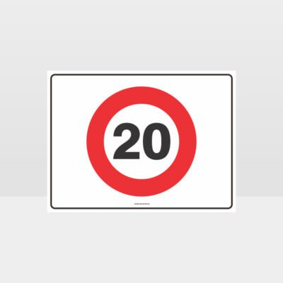 20 KPH Speed L Sign