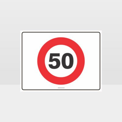 50 KPH Speed L Sign