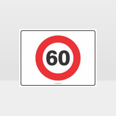 60 KPH Speed L Sign