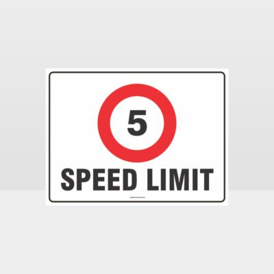 5 KPH Speed Limit L Sign