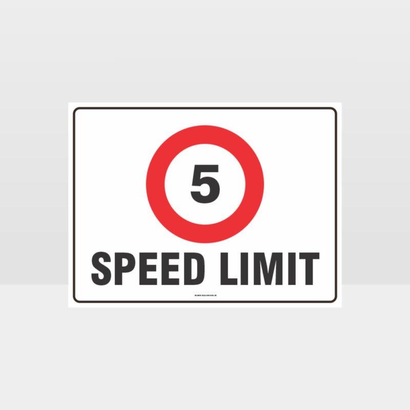 5 KPH Speed Limit L Sign