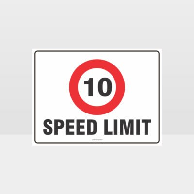 10 KPH Speed Limit L Sign