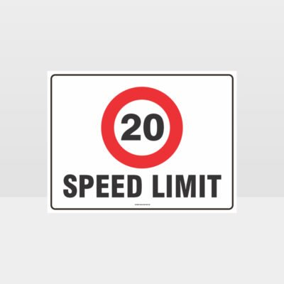 20 KPH Speed Limit L Sign