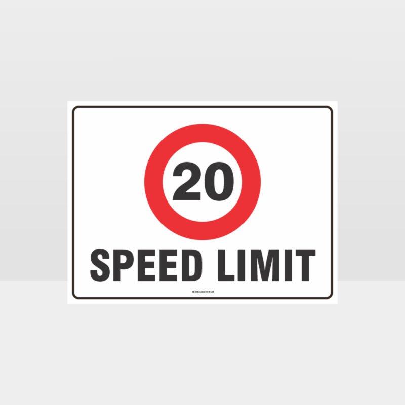 20 KPH Speed Limit L Sign
