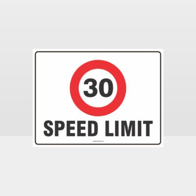 30 KPH Speed Limit L Sign