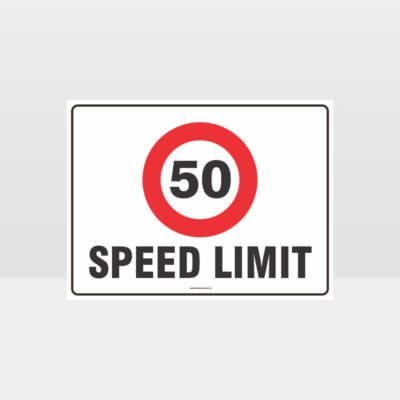 50 KPH Speed Limit L Sign