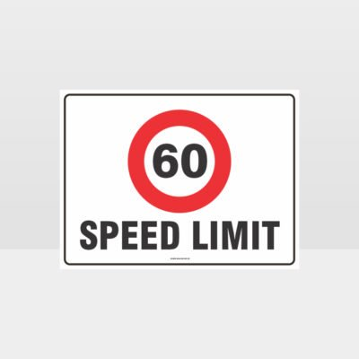 60 KPH Speed Limit L Sign