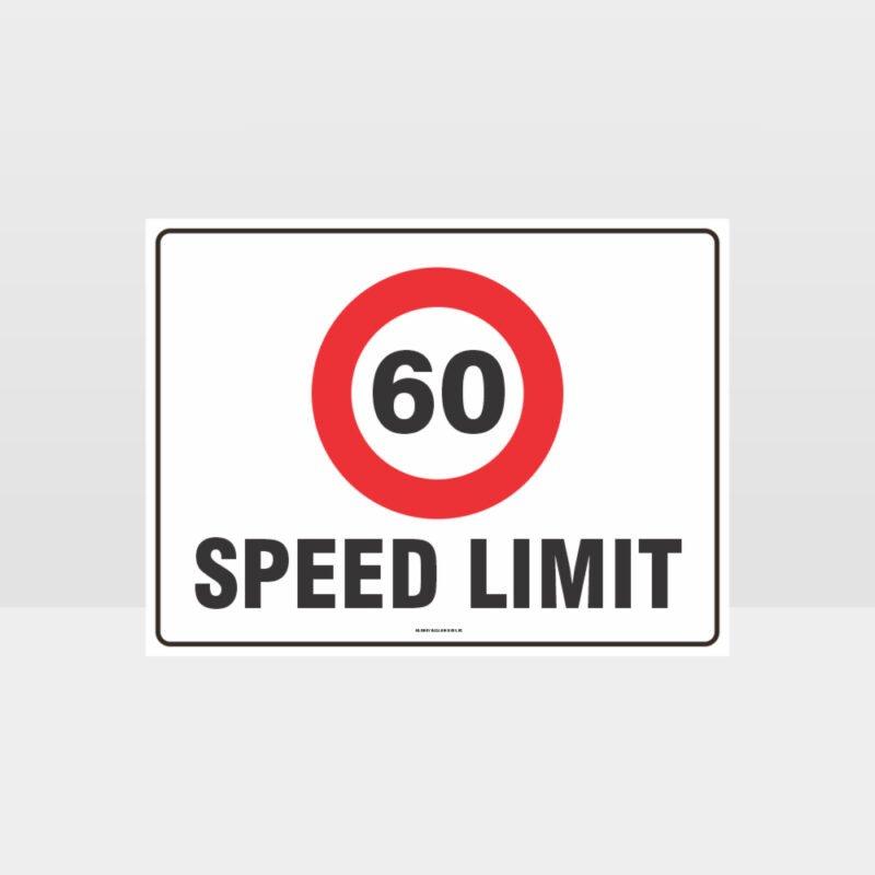 60 KPH Speed Limit L Sign