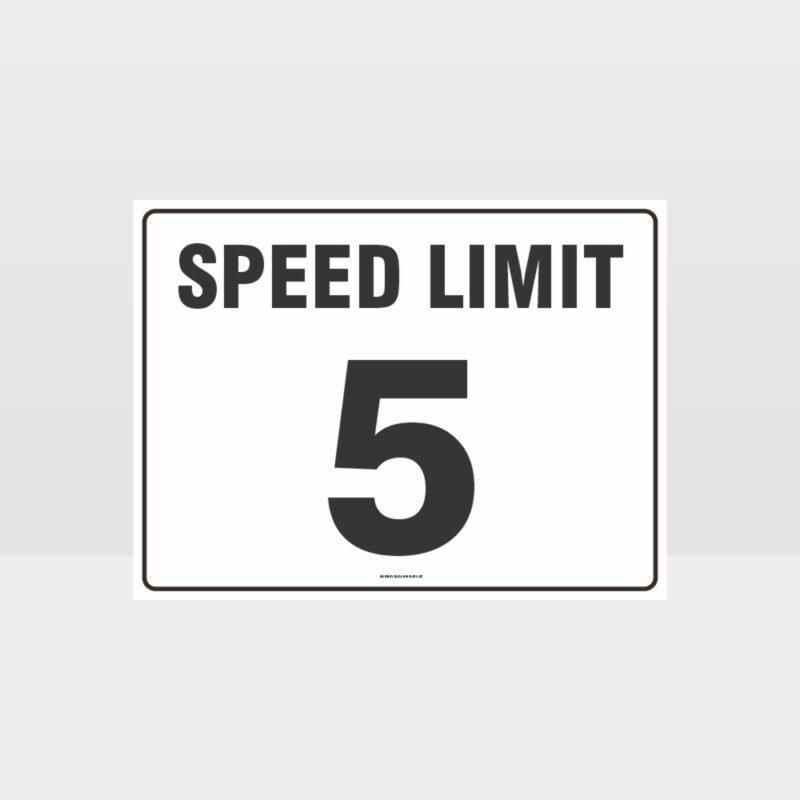 Speed Limit 5 KPH L Sign