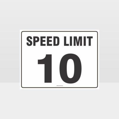 Speed Limit 10 KPH L Sign