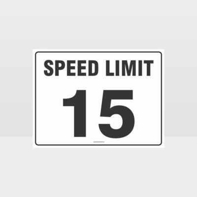 Speed Limit 15 KPH L Sign