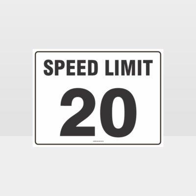 Speed Limit 20 KPH L Sign