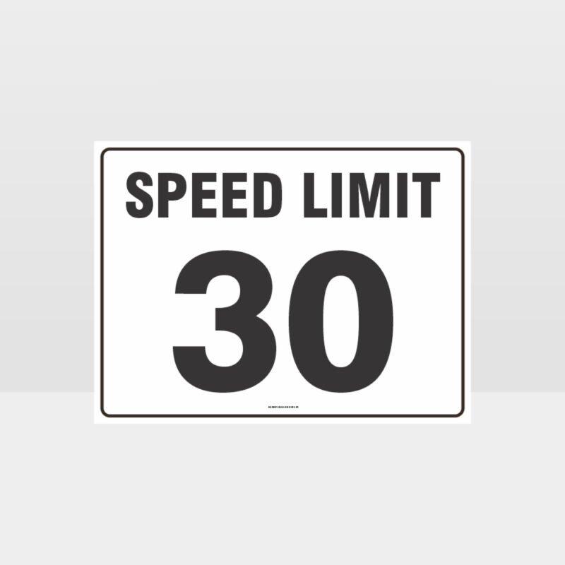 Speed Limit 30 KPH L Sign