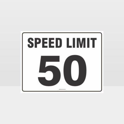 Speed Limit 50 KPH L Sign