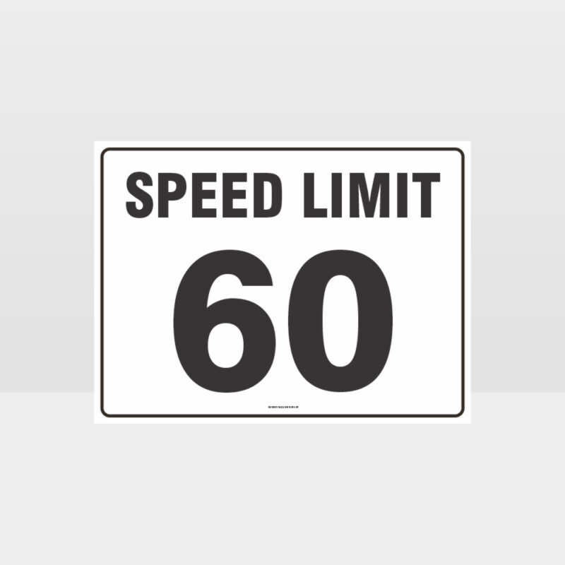 Speed Limit 60 KPH L Sign