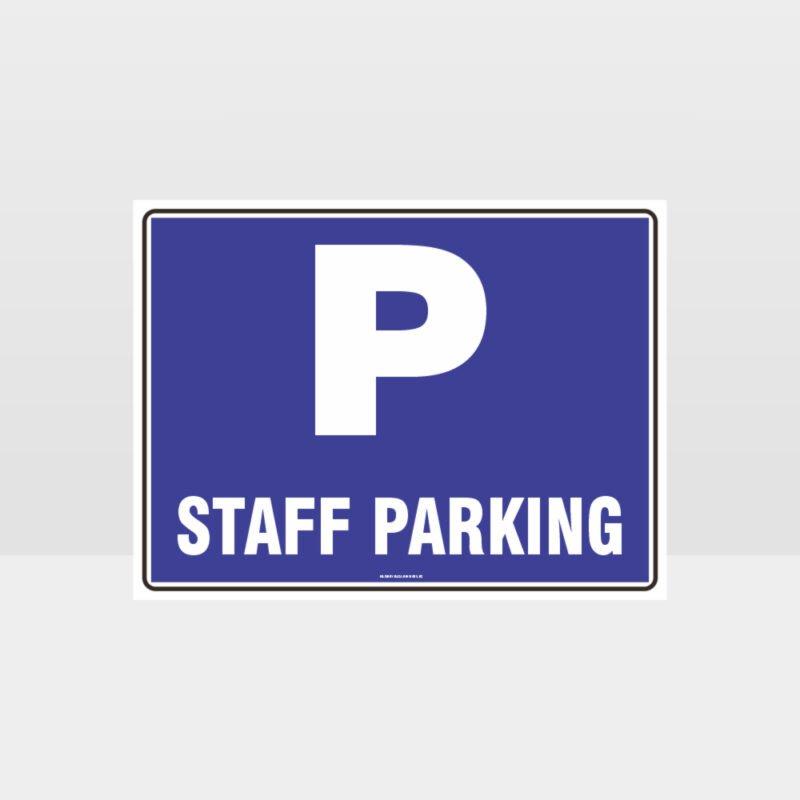 Staff Parking L Sign