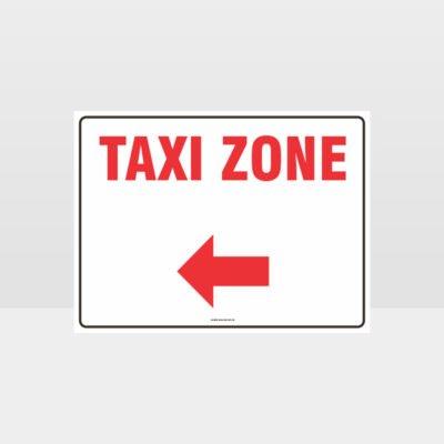 Taxi Zone Left Arrow L Sign