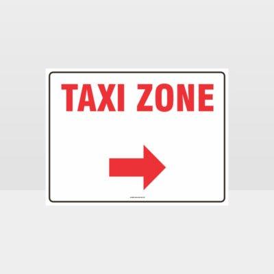Taxi Zone Right Arrow L Sign