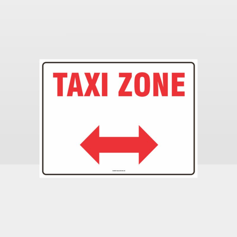 Taxi Zone Left And Right Arrow L Sign
