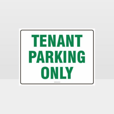 Tenant Parking Only L Sign