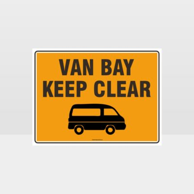 Van Bay Keep Clear L Sign