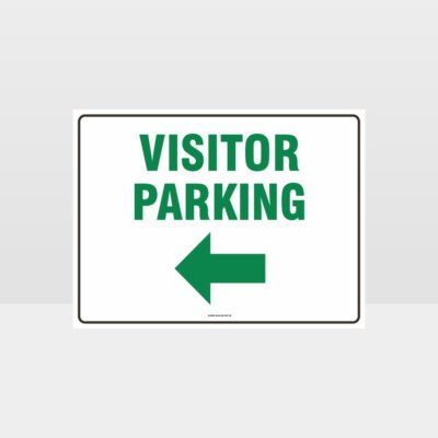 Visitor Parking Left Arrow L Sign