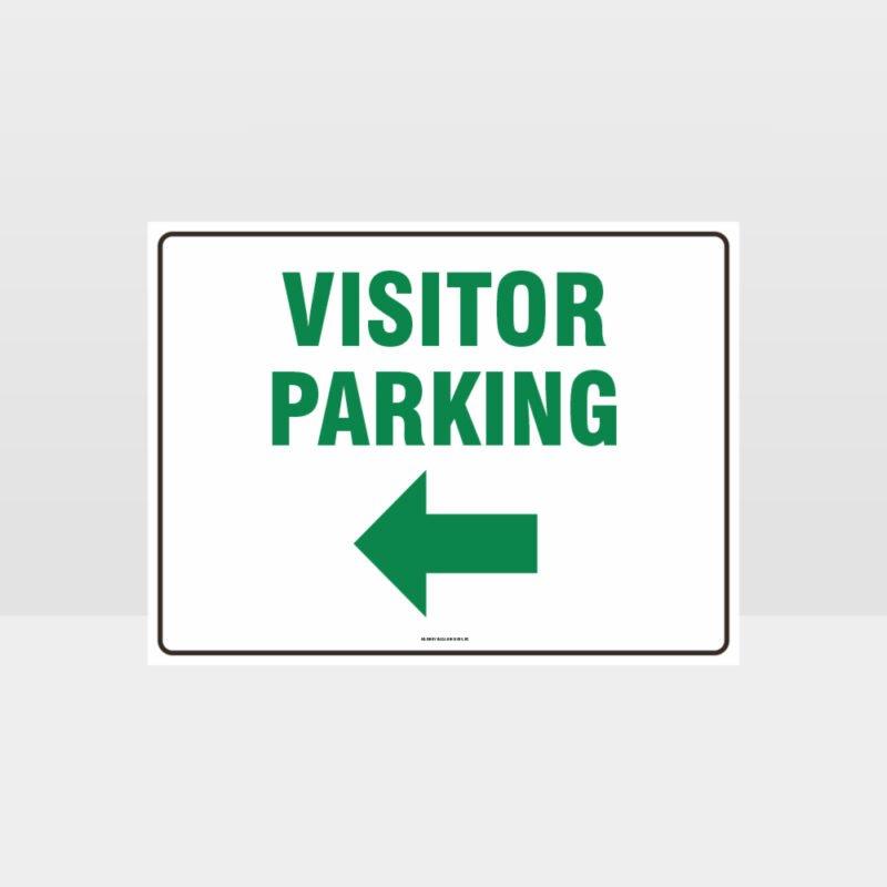 Visitor Parking Left Arrow L Sign