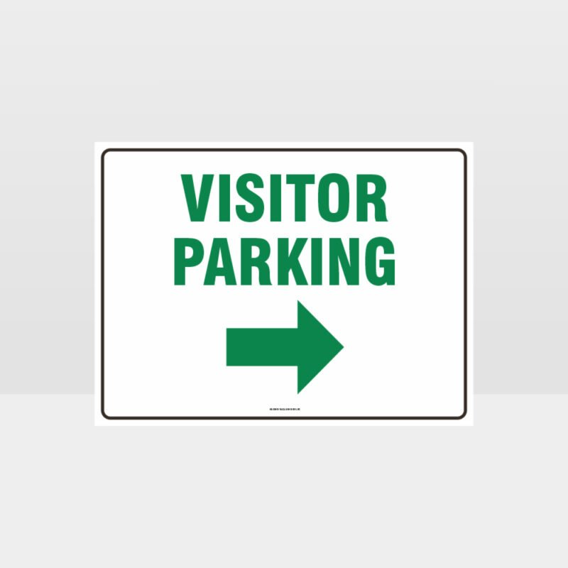 Visitor Parking Right Arrow L Sign