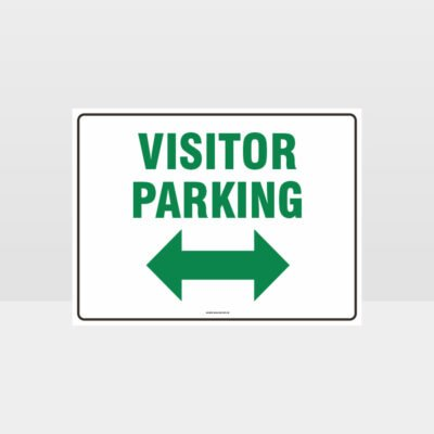 Visitor Parking Left And Right Arrow L Sign