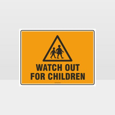 Watch Out For Children L Sign