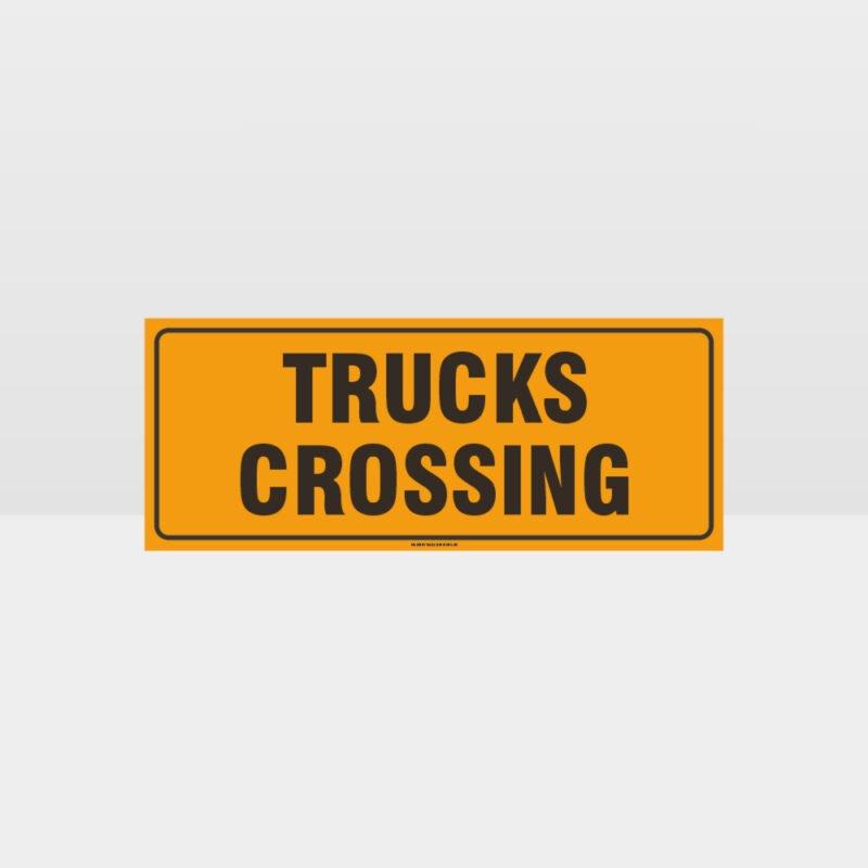 Trucks Crossing Sign
