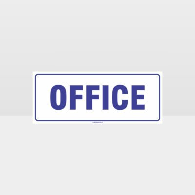 Office White Background Sign