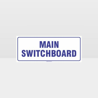 Main Switchboard White Background Sign