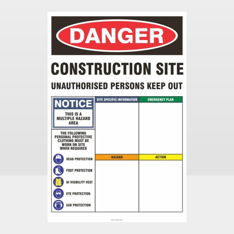 Danger Construction Site