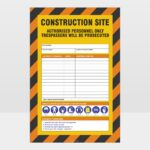 Construction Site Authorised Personnel Only