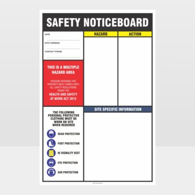 Safety Noticeboard Sign