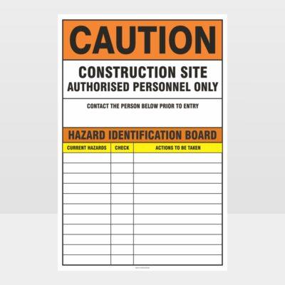Caution Construction Site Sign
