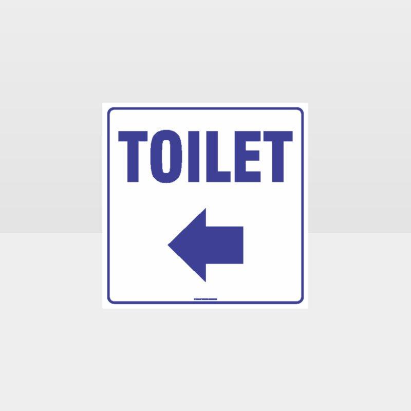 Toilet left Arrow White background Sign