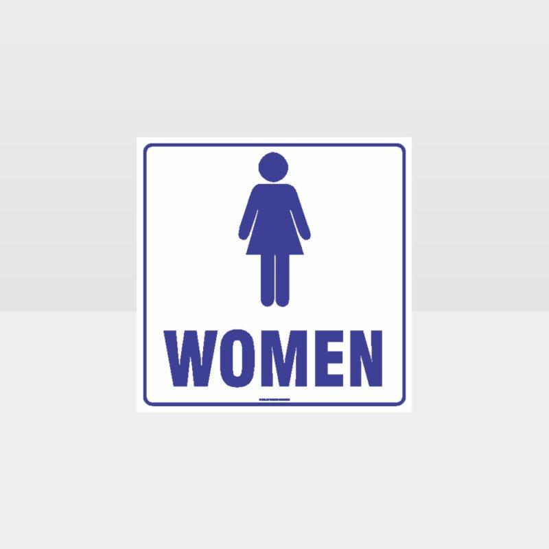 Women Toilet White Background Sign