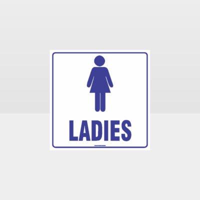 Ladies Toilet White Background Sign
