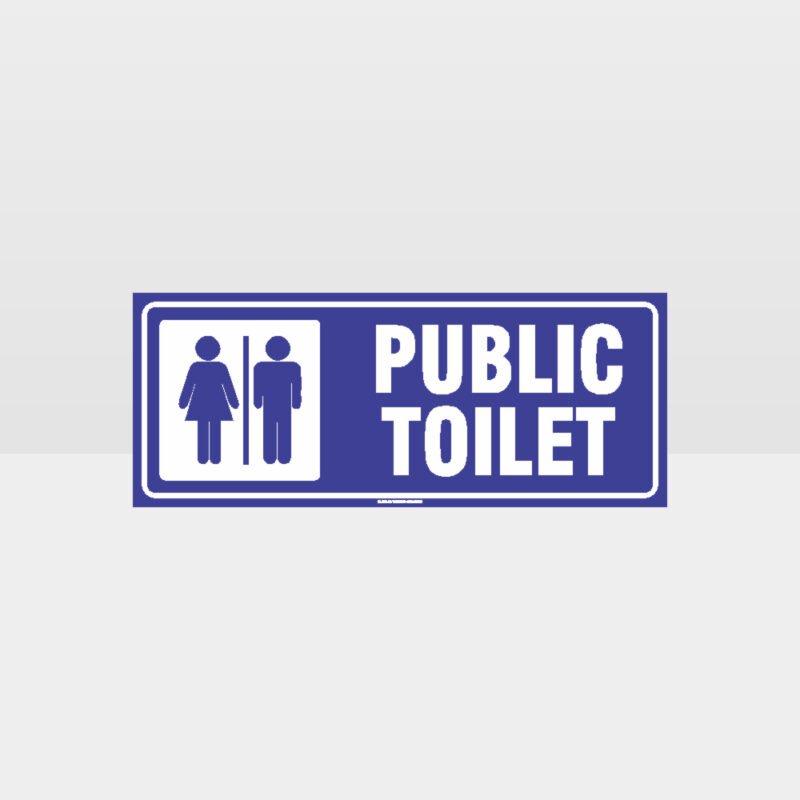 Public Toilet Sign