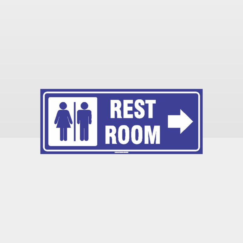 Rest Rooms Right Arrow Sign