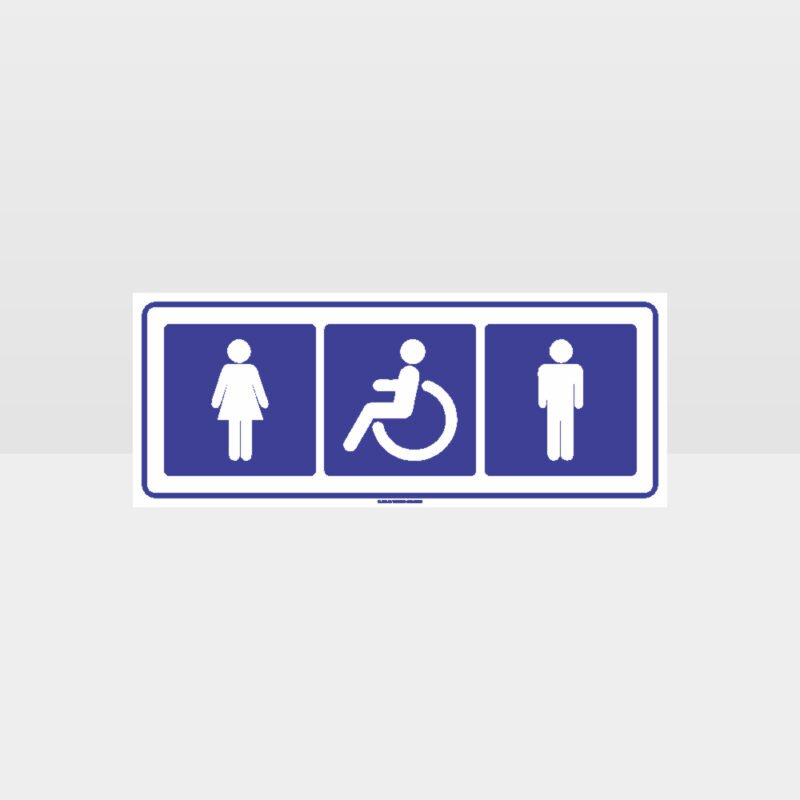 Male Female Accessible Toilets Sign