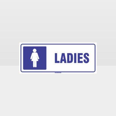 Ladies Toilet Symbol Sign
