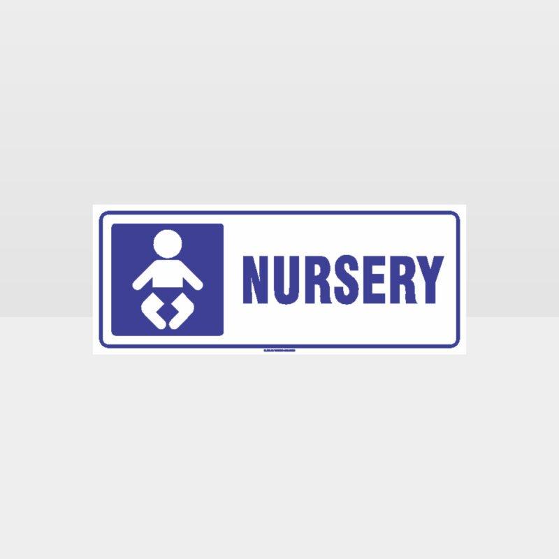 Nursery Symbol White Background Sign