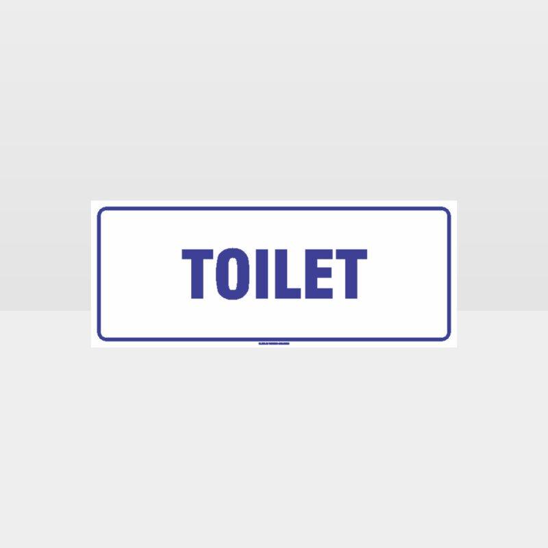 Toilet White Background Sign